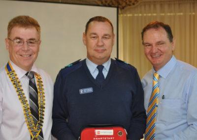 Presentation of Defibrillator to Ipswich PCYC