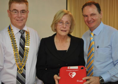 Presentation of Defibrillator to