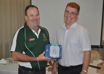 Presentation of Defibrillator to Ipswich Rangers Rugby
