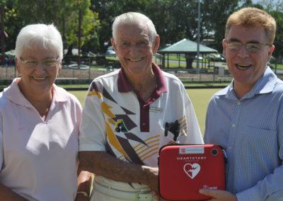 Presentation of Defibrillator to North Ipswich Bowls Club