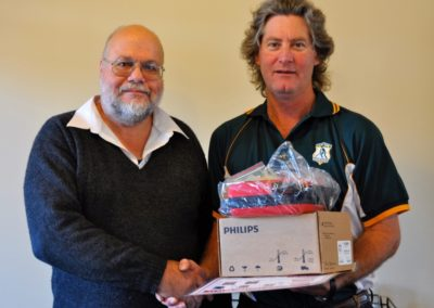 Presentation of Defibrillator to Ipswich Hockey